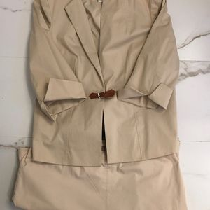 Khaki 2 piece DONCASTER Jacket and Skirt